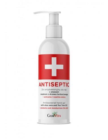 GORVITA Antiseptic Żel antybakteryjny do rąk z aloesem i olejkiem z drzewa herbacianego 200ml