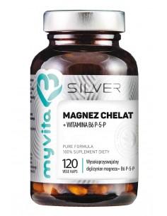 SILVER 100% Magnez Chelat + B6 P-5-P, 120kaps. MyVita