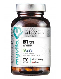 SILVER 100% Witamina B1 50mg (Tiamina), 120kaps. MyVita