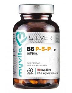 SILVER 100% Witamina B6 P-5-P 18mg, 60kaps. MyVita