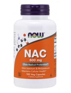 NOW FOODS NAC N-Acetyl Cysteine 600mg, 100 vcaps.