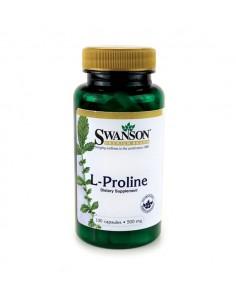SWANSON L-Proline 500mg, 100kaps. - L-Prolina