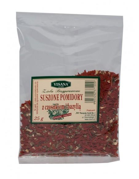 Suszone pomidory+czosnek+bazylia 25g VISANA