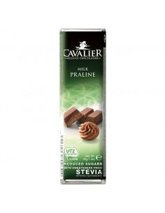 CAVALIER Baton z czekolady mlecznej z nadzieniem pralinowym sł. stewią 40g