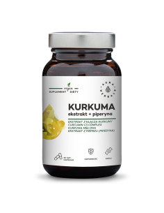 AURA HERBALS Kurkuma ekstrakt + piperyna 60 vcaps.