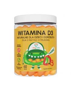 MyVita Żelki Witamina D3 z pektyny cytrusowej 60 sztuk