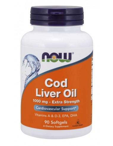 NOW FOODS Cod Liver Oil 1000mg, 90 sgels. - Tran z dorsza