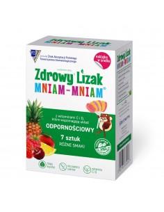 STARPHARMA Zdrowy lizak Mniam-Mniam b/c różne smaki 7 sztuk + naklejka
